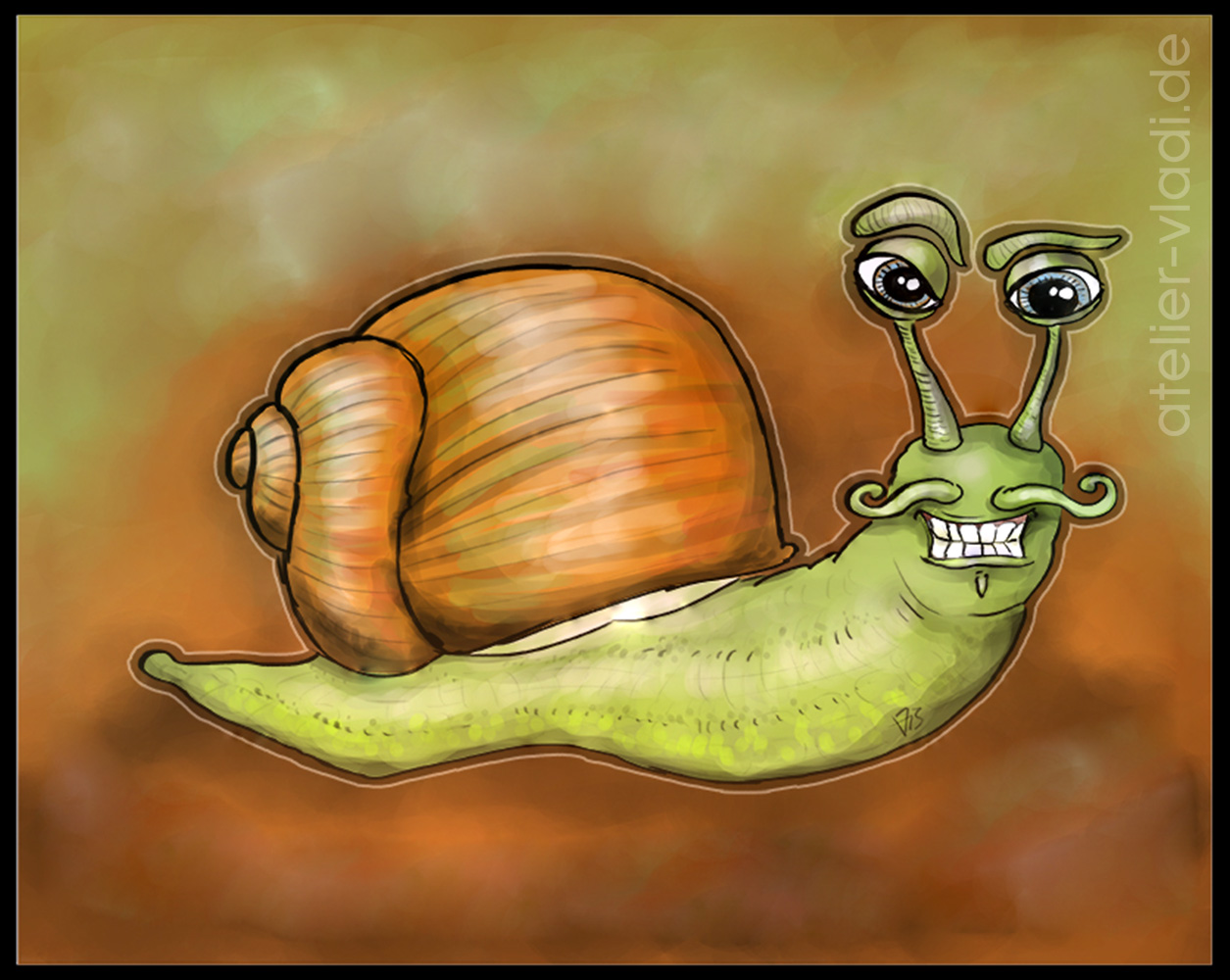 Cartoon Schnecke