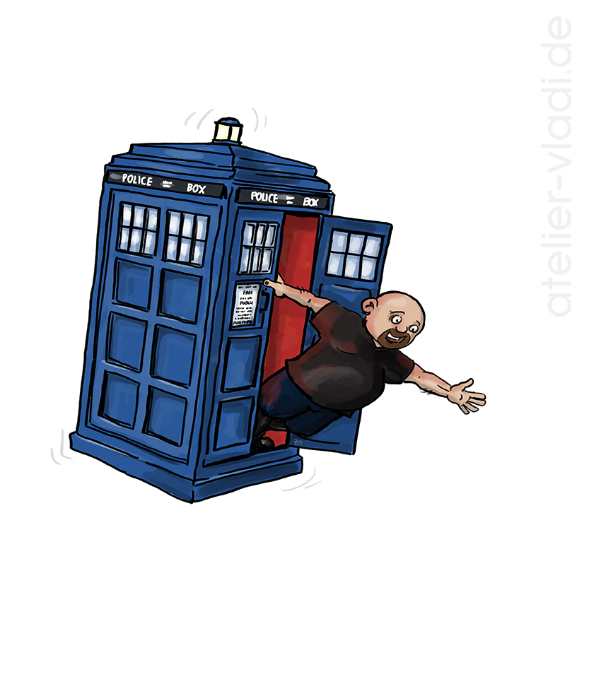 Tardis Vladi Cartoon Telefonzelle