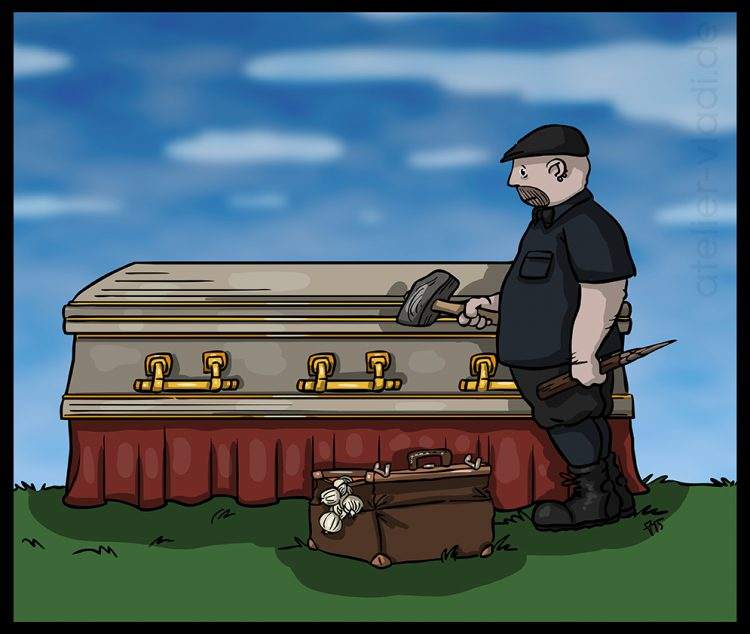 Cristopher Lee Nachruf Vladi Cartoon