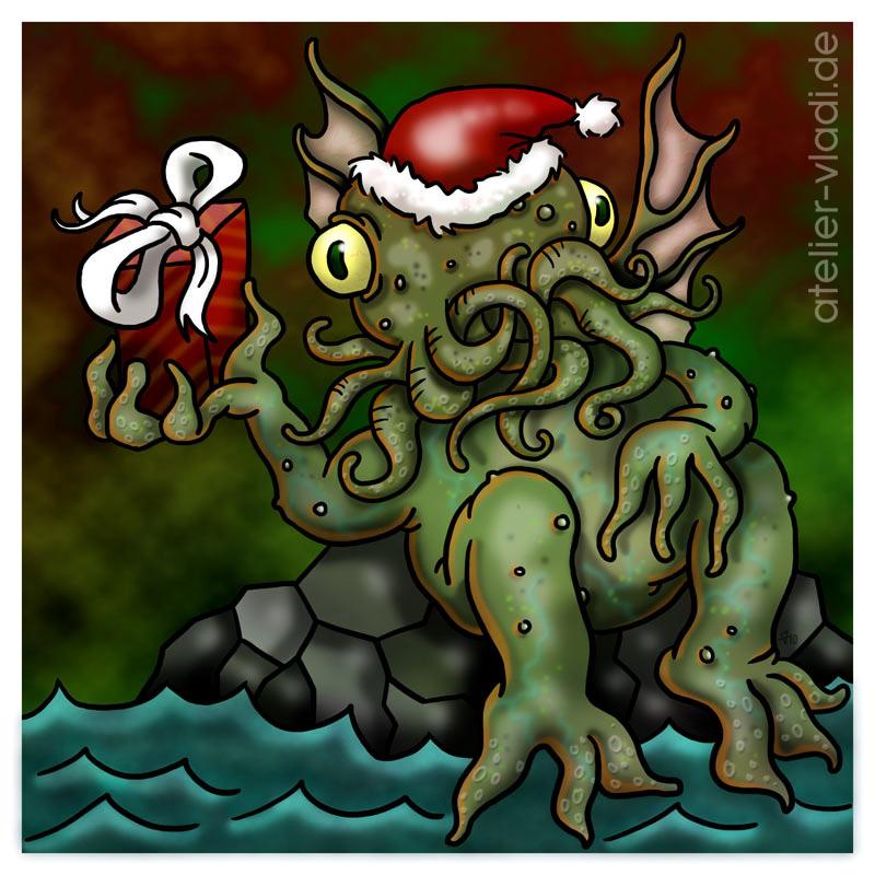 cthulhu weihnachten tentakel