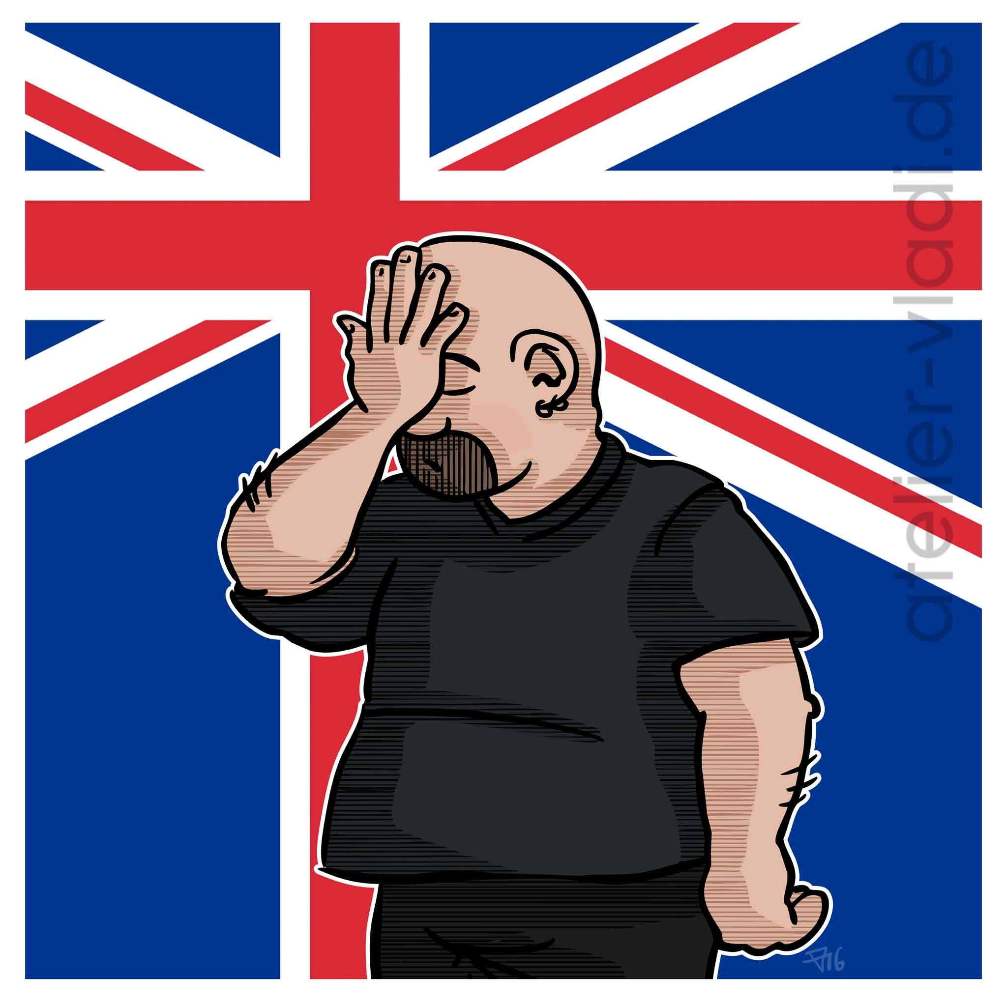 Cartoon Politisch politische Cartoons Karikaturen Brexit Cartoon Facepalm