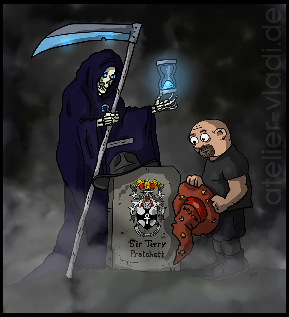 Nachruf Terry Pratchet Cartoon