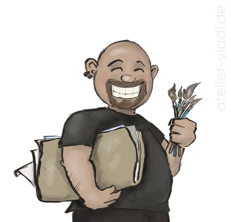 Vladi Maler Cartoon