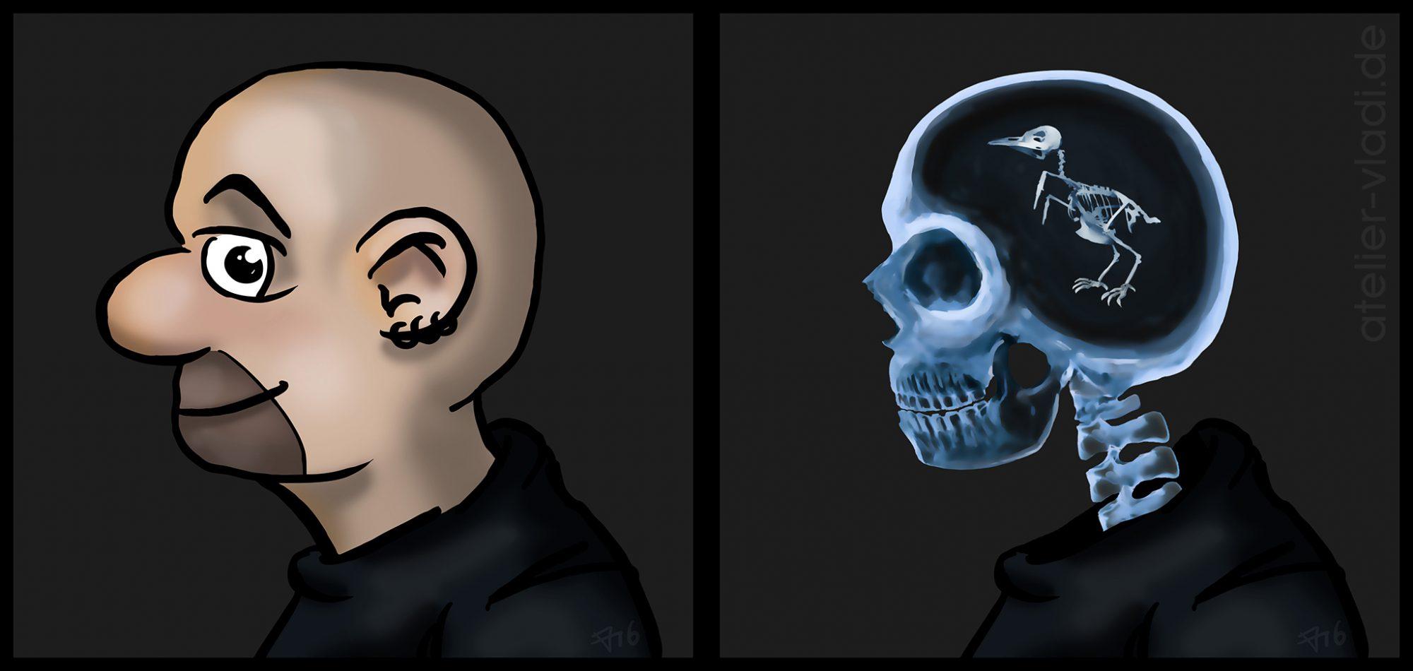 Cartoon Vladi Xray Röntgenbild